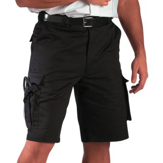 Black EMT EMS Mens 7 Pocket Paramedic Uniform Shorts