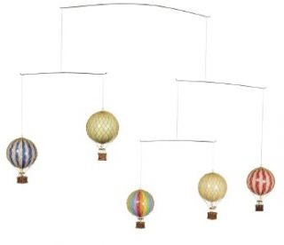 Flying The Skies Hot Air Balloon Mobile Primary Colors Hanging Decor