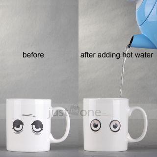 Hot Cold Heat Change Close Open Eyes Wake Up Sensitive Ceramic Mug