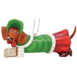 Hot Diggity Christmas Holiday Caroler Dachshund Dog Ornament by