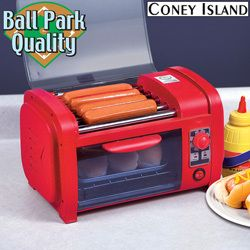 Hot Dog Roller and Toaster Food Vegetable Cooker Grill Warmer Kitchen