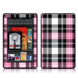 Pink Plaid Design Protective Decal Skin Sticker (Matte