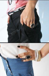K0E1 Hot Fashion Korean 1pcs Exquisite Leaves Oval Pear Rings