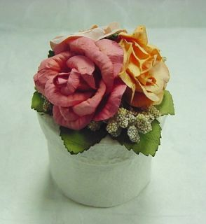 Rose Flower Round Shape Paper Gift Box Party Supplies Wedding Favor