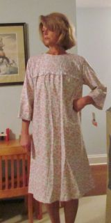 Hospital Gowns Cotton Flannel Made in USA s 3XL Assorted Pastels
