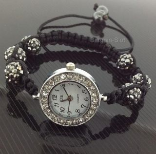 Shamballa Crystal Disco Ball Bracelet Diamante Shambala Watch
