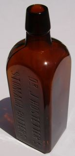 Old Medicine Bottle Dr J Hostetters Stomach Bitters