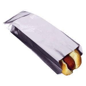 Unprinted Foil Hot Dog Bag 1000 CS