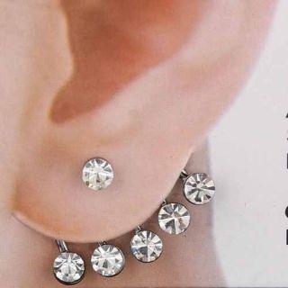 Top Hot Fashion Jewelry Wedding Earring Ladys Rhinestone Cuff Stud