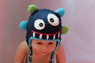 New Cyclops Bubu Monster Tasmanian Devil Newborn Baby Child Knit Hat