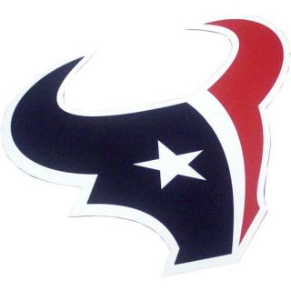 Houston Texans Bull Head Logo Car Magnet