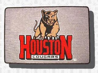 Houston Cougars Welcome Door Mat Rug New