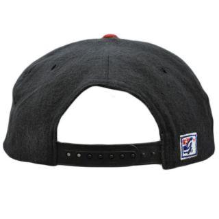 Houston Oilers Vintage Retro Deadstock Flat Bill Snapback Gray Red Hat