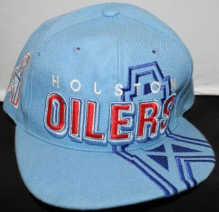 Houston Oilers NFL AFC Licesnsed Hat Cap Blue Adjustable Throwback