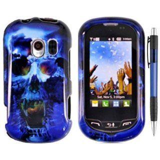 Blue Skull On Black Premium Design Protector Hard Case