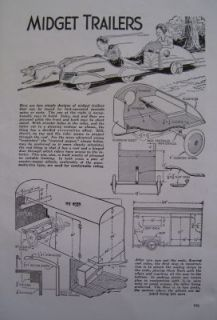 1944 How to Build PEDAL CAR TEARDROP TRAILER COVERED WAGON DIY ARTICLE