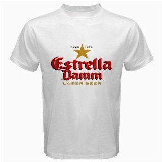 Estrella Damm Beer Logo New White T shirt Size M