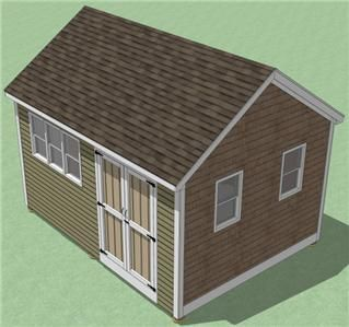 12x16 Shed Plans  How To Build Guide   Step By Step   Garden / Utility