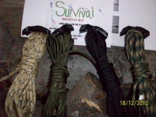 How to make a paracord bracelet survival bracelet kit 40 great