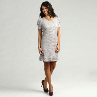 Jessica Howard Womens Gunsmoke Lace Dress