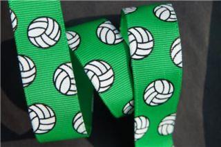10yd Volleyball 7 8 Emerald Green Grosgrain Ribbon Craft