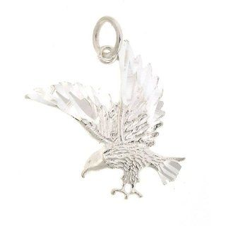 925 Authentic Sterling Silver Charm Eagle Jewelry