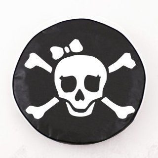 Jolly Roger Girl Black Spare Tire Cover