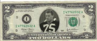 Oakland Raiders Howie Long $2 Dollar Bill Mint RARE $1