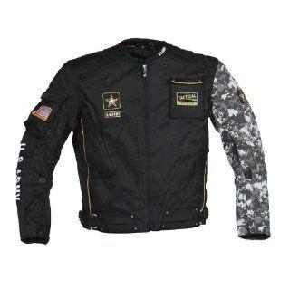 Power Trip U.S. Army Alpha Mens Textile Motorcycle Jacket Black/Grey