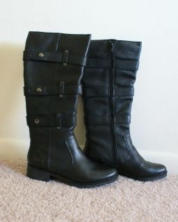 Matisse Howie Black Leather Buckle Boots Size 7 5 Brand New