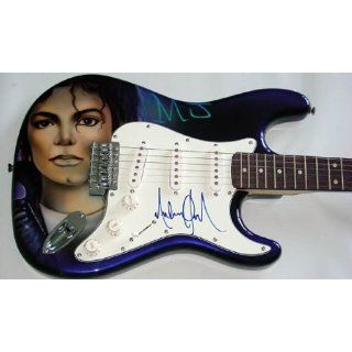 Michael Jackson Autographed Signed Custom Airbrush Guitar