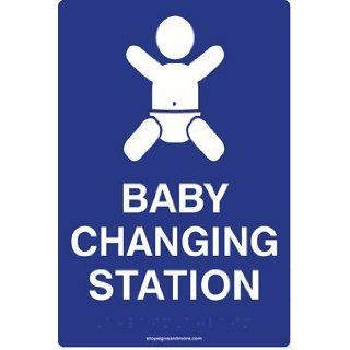 ADA Compliant Baby Changing Station Restroom Signs   6x9