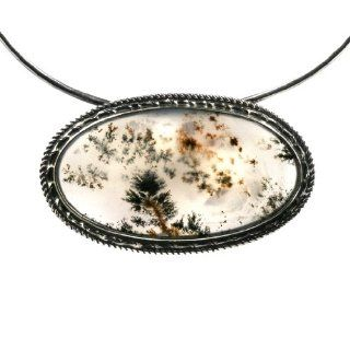 Moss Agate and Sterling Silver One of a Kind Colors of an