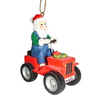 Holiday Santa on Noel ATV Four Wheeler Christmas Ornament