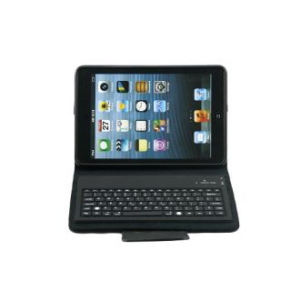 New Wireless Bluetooth Keyboard Leather Case Stand for Apple iPad Mini