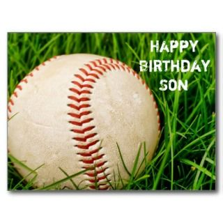 Happy Birthday Son Baseball Postcard