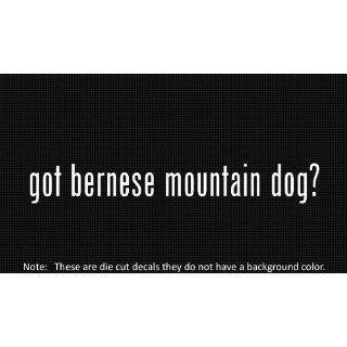 (2x) Got Bernese Mountain Dog Logo sticker vinyl decals