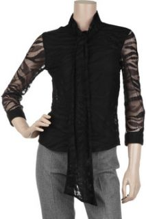 Anna Molinari Sheer cotton blend shirt   88% Off