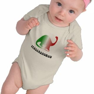 Italiasaurus Funny Italian Dinosaur Baby Shirt