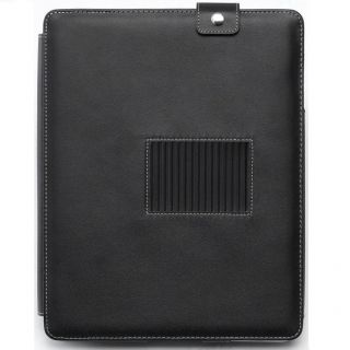 Black Leather Folio Skin Case for HP Touchpad 16GB 32GB