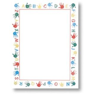 100 Alphabet Border Stationery Sheets: Everything Else