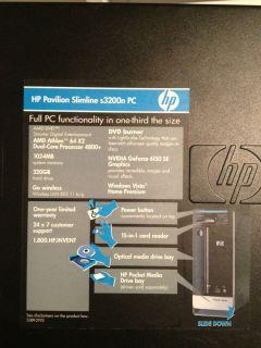 HP Pavilion Slimline s3200n AMD Athlon 64x2 Dual Core 4800 2 5GHz