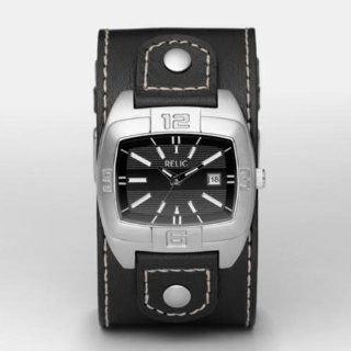 RELIC Black Leather Strap Analog Watch Watches