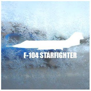 F 104 STARFIGHTER White Decal Military Soldier Car White