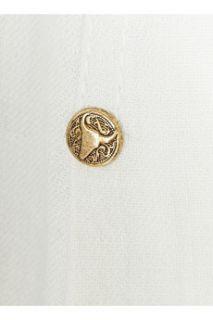 Balmain Stud embellished denim gown   75% Off