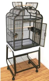 HQ Parrot Bird Cages 92217C Victorian TOP22X17 with Cart Stand Top Toy
