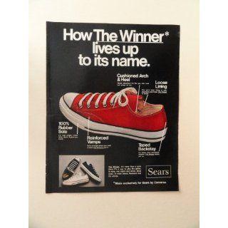 , print ad (red shoe.) Orinigal Magazine Print Art