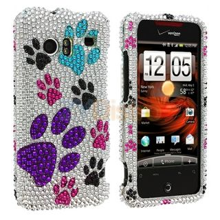Dog Paw Cute Bling Case Cover for HTC Droid Incredible 6300