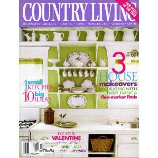 Country Living Magazine February 2002   House Makeovers Editors of