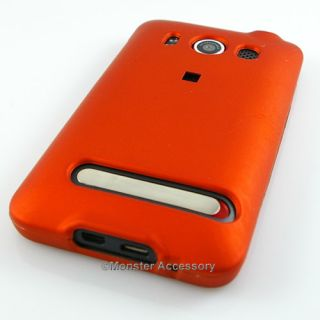 Orange Rubberized Hard Case Phone Cover for HTC EVO 4G